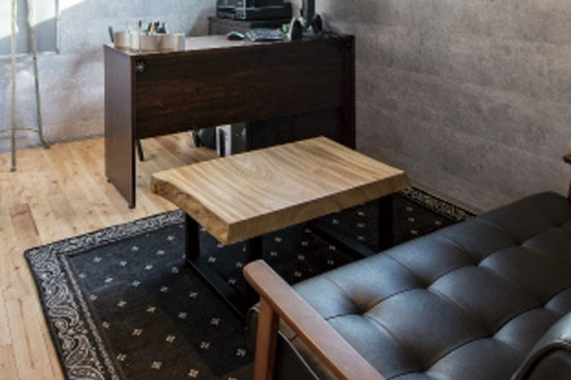 カフェテーブル(ダイニングテーブルの端材で作成)